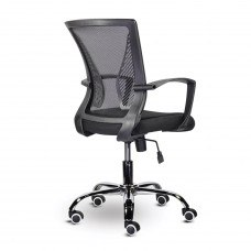Кресло Кресло РК-304 пластик черный, хром, сетка, черное