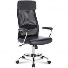 Кресло Кресло РК-540 хром, экокожа, сетка, черное