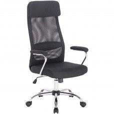 Кресло Кресло РК-540 хром, ткань, сетка, черное