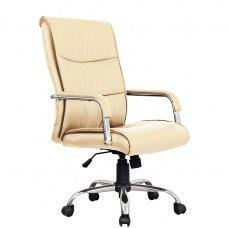 Кресло РК-508 экокожа, хром, бежевое