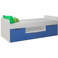 Кровать детская с тремя ящиками 1652х755x602 мм (ДхГхВ) (Цвет на выбор)