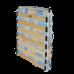 Раскладушка на ламелях с матрасом Марфа 1
