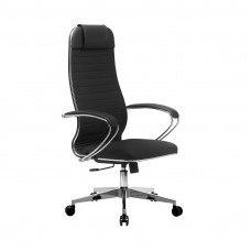 Кресло №17 хром каркас и подлокотник (Экокожа)