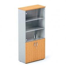 Шкаф со стеклянными дверцами DH5-025 900х430х1980 мм (ДхГхВ) (Цвет на выбор)