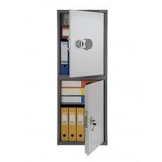 Бухгалтерский шкаф ПРАКТИК SL-125Т-EL/2 механический замок 460x340х1252 мм (ДхГхВ)