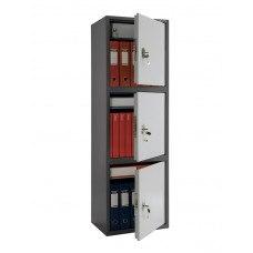 Бухгалтерский шкаф ПРАКТИК SL-150Т-EL/3 механический и кодовый замок 460x340х1490 мм (ДхГхВ)