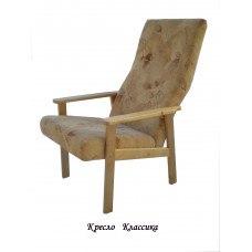 Кресло из массива березы Классика (Цвет дерева и цвет обивки на выбор)