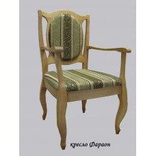 Кресло из массива березы Фараон (Цвет дерева и цвет обивки на выбор)