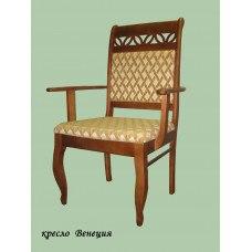 Кресло из массива березы Венеция (Цвет дерева и цвет обивки на выбор)