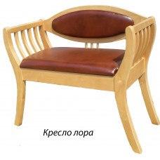 Кресло деревянное из массива березы Лора (Цвет дерева и цвет обивки на выбор)