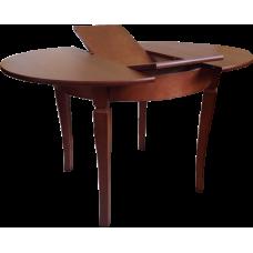 Стол из массива березы Гранд круглый (Раздвижной) 1230(930)х750 мм (ДхВ) (Цвет на выбор)