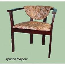 Кресло из массива березы Барон (Цвет дерева и цвет обивки на выбор)