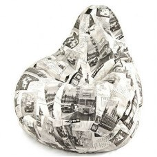 Кресло мешок макси хлопковая ткань