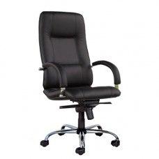 Кресло Стар стил хром / Star steel chrome (Материал и цвет обивки на выбор)