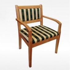 Кресло из массива березы Престиж (Цвет дерева и цвет обивки на выбор)