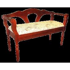 Скамейка из массива березы Клеопатра (Цвет дерева и цвет обивки на выбор) (Длина 1100 мм)