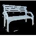 Металлическая скамейка со спинкой Беседа №3 (Длина 128см)