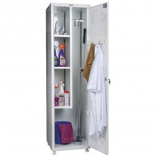 Шкаф медицинский для раздевалок HILFE МД 1 ШМ-SS 11-50 500х500х1920/1830 мм (ДхГхВ)
