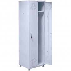 Шкаф медицинский для раздевалок HILFE МД 2 ШМ-SS 21-50 575х500х1920/1830 мм (ДхГхВ)