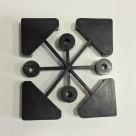 Комплект пластиковых подпятников для стеллажей (4шт)