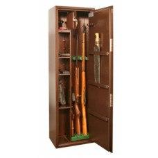 Сейф оружейный КО-038Т на 3 ружья мех. замок 430x280х1400 (ДхГхВ)