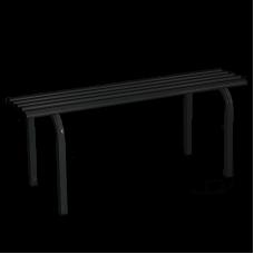 Металлическая скамейка без спинки №1 (Длина 101см)