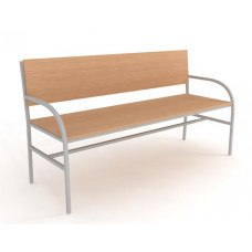 Скамейка №1 со спинкой (Материал и цвет обивки на выбор) (Длина 1500)
