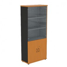 Шкаф со стеклянными дверцами R5S72 800х370х1849 мм (ДхГхВ) (Цвет на выбор)