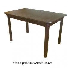Стол из массива березы Велес (Раздвижной) 1600(1200)х800х750 мм (ДхГхВ) (Цвет на выбор)